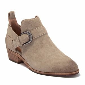 Frye Mia Cutout Taupe Bootie 9